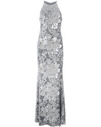 Badgley Mischka - Sequin Embroidered Gown - Lyst