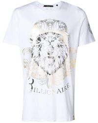 Billionaire - Logo Graphic T-shirt - Lyst