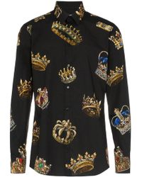 Dolce & Gabbana - Crown Print Shirt - Lyst