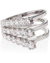 Melissa Kaye - 18kt White Gold Aria Fan Diamond Ring - Lyst