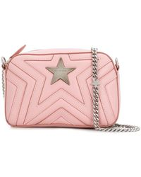 Lyst - Stella McCartney Soft Beckett Mini Quilted Shoulder Bag in Pink 5d4c651dcddc5
