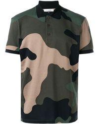 Valentino - Poloshirt mit Camouflagemuster - Lyst