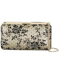 Jimmy Choo - Floral Corded Lace Clutch - Lyst