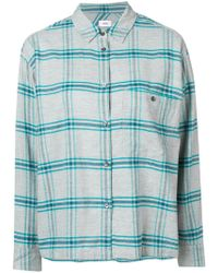 Closed Checked Button-down Shirt - Gray
