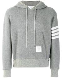 Thom Browne - 4-bar Cashmere Shell Relaxed Hoodie - Lyst