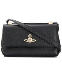 64a8cc413eb Vivienne Westwood Spencer Leather Cross-body Bag in Black - Lyst