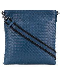 Bottega Veneta - Small Intrecciato Messenger Bag - Lyst