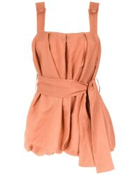 Adriana Degreas - Belted Jumpsuit - Lyst