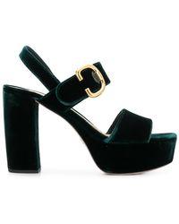 8e5ca99117 Women's Prada Sandal heels On Sale - Lyst