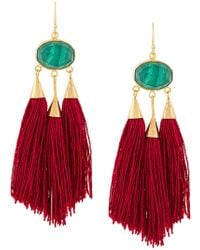 Katerina Makriyianni - Long Fringe Earrings - Lyst