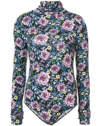 Prabal Gurung - Floral Turtle-neck Bodysuit - Lyst