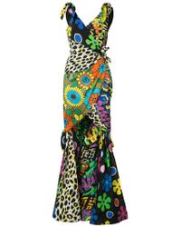 Moschino - Mixed Print Fishtail Gown - Lyst