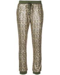 Twin Set - Pantalones de deporte con lentejuelas - Lyst