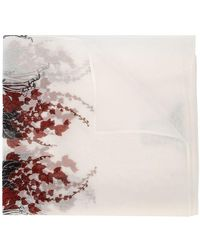 Thomas Wylde - Skeleton Floral Print Scarf - Lyst