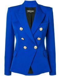 Balmain - Double Breasted Jacket - Lyst