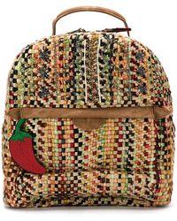 Isla - Embroidered Tweed Backpack - Lyst