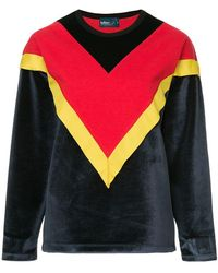 Kolor - Colour Block Chevron Sweatshirt - Lyst