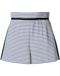 Philosophy Di Lorenzo Serafini - Striped High Waisted Shorts - Lyst