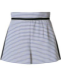 Philosophy Di Lorenzo Serafini - Striped High Waisted Shorts - Lyst