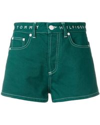 Tommy Hilfiger - High Waisted Denim Shorts - Lyst