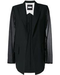 Demoo Parkchoonmoo - Sheer Sleeves Blazer - Lyst