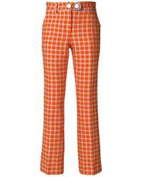 L'Autre Chose - Cropped Plaid Trousers - Lyst