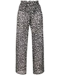 Fisico - Leopard Print Palazzo Pants - Lyst