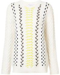 Gabriela Hearst - Woven Knitted Jumper - Lyst