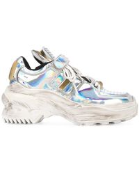 25d0398d8f1 Puma Basket Holographic Leather Sneakers in Metallic - Lyst