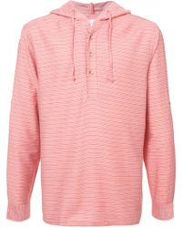 Onia - Striped Hoodie - Lyst
