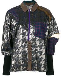 Kolor - Pattern Mesh Shirt Blouse - Lyst