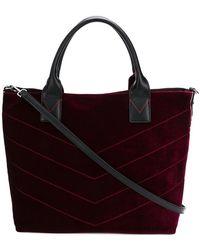 Pinko - Large Velvet Shopping Bag - Lyst