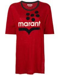 Étoile Isabel Marant - Camiseta oversize con logo - Lyst