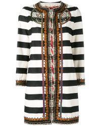 Bazar Deluxe - Striped Coat - Lyst