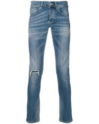 Dondup - Distressed Skinny Jeans - Lyst