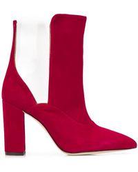 Paris Texas - Transparent Panel Suede Boots - Lyst