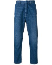 Pence - Straight Leg Cropped Jeans - Lyst