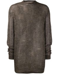 Rick Owens - Transparent Knitted Sweater - Lyst