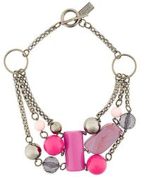 Armani - Beaded Necklace - Lyst