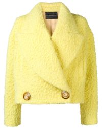 Erika Cavallini Semi Couture - Oversized Collar Jacket - Lyst