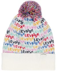 Levi's - Knitted Bobble Hat - Lyst