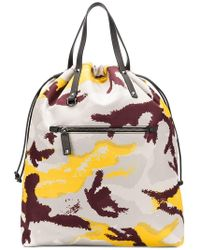 Valentino Camouflage Backpack in Orange for Men - Lyst 75205f17c67bb