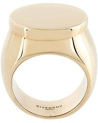 Givenchy - Flat Top Signet Ring - Lyst