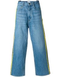 Facetasm - Side-stripe Wide-leg Jeans - Lyst