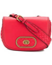 da1a194e486b Bottega Veneta Bv Luna Crossbody Bag in Red - Lyst