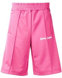 Palm Angels - Shorts sportivi con stampa - Lyst