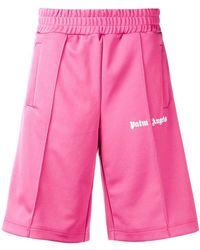 Palm Angels - Pantalones cortos de deporte con logo - Lyst