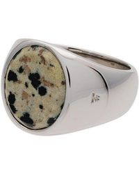 Tom Wood - Silver Cushion Leopard Jaspar Signet Ring - Lyst