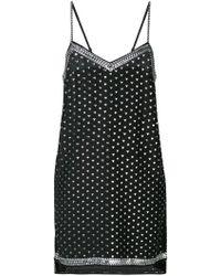 Adam Selman - Heart Print Slip Dress - Lyst