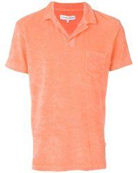 Orlebar Brown - Terry cloth polo shirt - Lyst